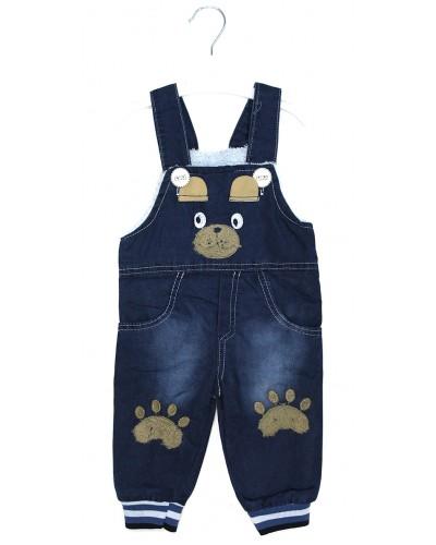 Комбинезон джинсовый,мех(2-6 лет)