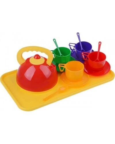 Набор  посуды с чайник + поднос 14 ел, 286