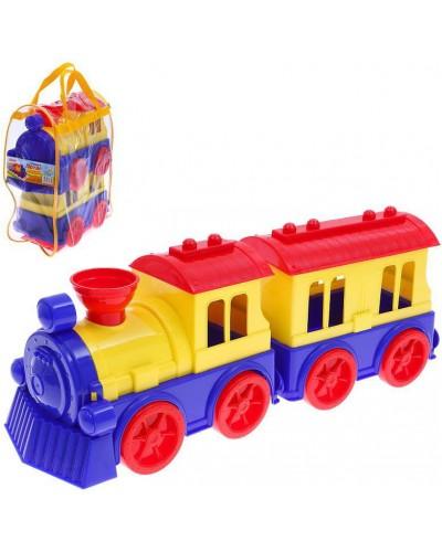 """Игрушка """"Поезд с  пасажирским вагоном"""