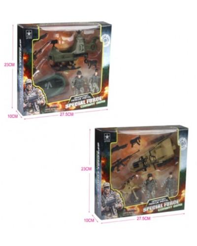 Военный набор 6632AB 2 вида,в коробке 27,5*23*10см