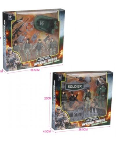 Военный набор 6633AB 2 вида,в коробке 28,5*23*4,5см