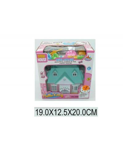 """Домик """"Hello Kitty"""" 3588A (1188282) с фигурками, мебелью, в кор. 19*13*20см"""
