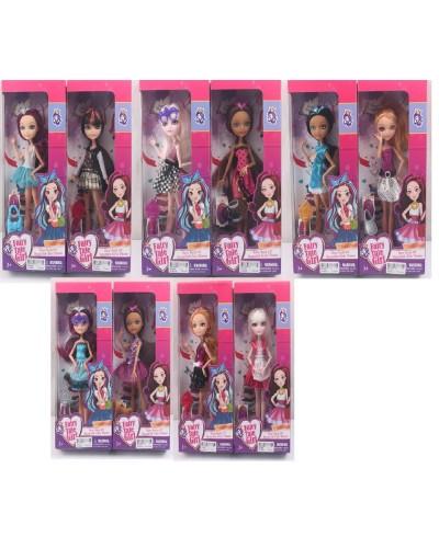 """Кукла """"Ever After High"""" 601-44-5-6-7-8A 10 видов, с сумочкой, на шарнирах, в кор. 33*14*6 с"""