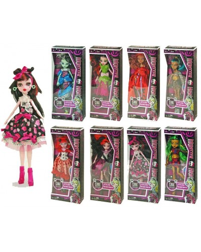 "Кукла ""Monster High"" 2074 8 видов, шарнир, в кор.14*6*33см"