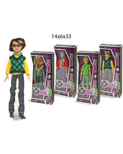 """Кукла """"Monster High"""" 2075 4 вида, мальчики, шарнир, в кор.14*6*33см"""