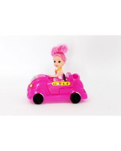 Кукла маленькая 689-6 с автомобилем...в пак.13*6*10 см