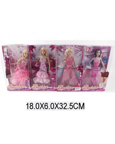 """Кукла типа """"Барби"""" 3134 (1412035) 4 вида, в бальных платьях, с аксесс, в кор.18*6*33см"""