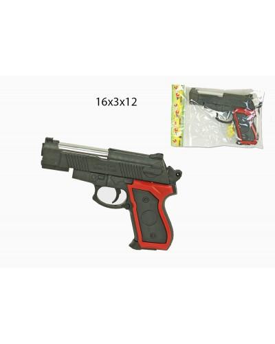 Пистолет 209  пульки, в пакете 16*3*12см
