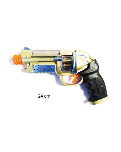 Пистолет батар AK798A свет., в пакете 24см