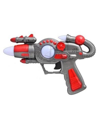 Пистолет муз 636/638 (754477R) батар., русская песенка, в пакете 23*4*15см