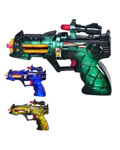 Пистолет муз. 215 батар.,свет,звук,в пакете