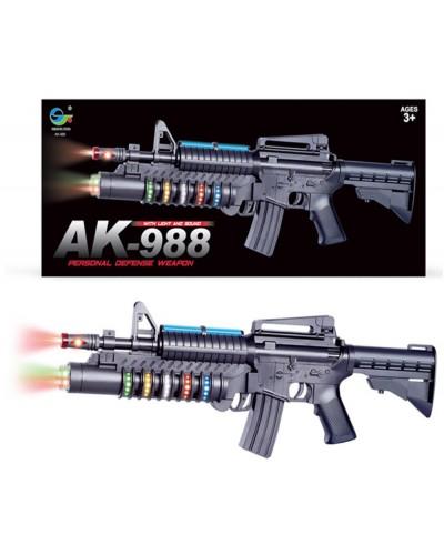 Автомат батар AK-988  свет, звук, в коробке 44*19*4,5см