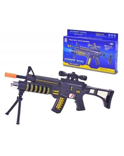 Автомат муз.батар AK-95A свет,звук, в коробке 41*4,5*21см