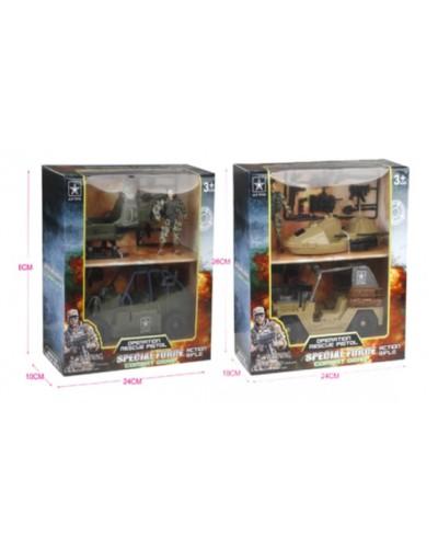 Военный набор 6630AB 2 вида,в коробке 26*24*10см