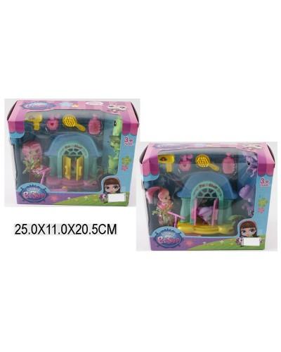 """Домик """"Littlest Pet Shop"""" 3001-1/2 (1425927/28) с куколкой, питомцами, аксесс, в кор25*11*21см"""