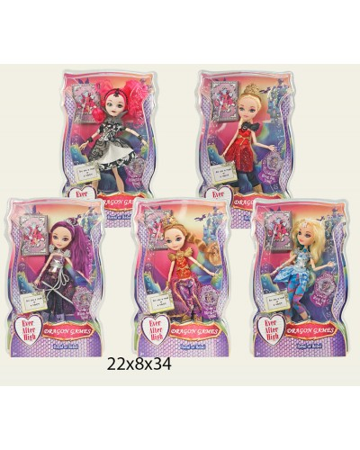 "Кукла ""Ever After High""Dragon games"" 2120 5 видов, с акс., на шарнирах, в кор. 22*8*34см"