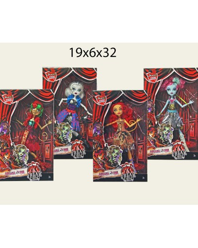 "Кукла ""Monster High""FreakChic"" 2107 4 вида, шарнир, в кор.19*6*32см"