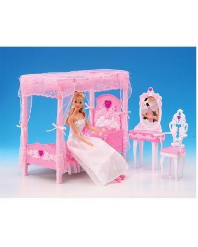 """Мебель """"Gloria"""" 2614  для спальни, кровать, туалетный столик,…в кор.33*17*5,5см"""