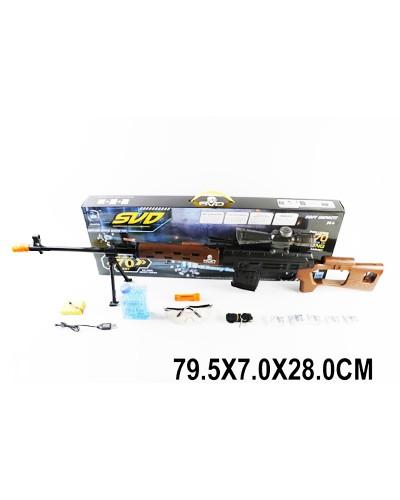 Снайперская винтов SVD LS02-A/B, гелевые пули, в коробке 79,5*7*28 см