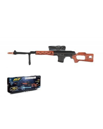Снайперская винтовка батар. 02-A свет, звук, в кор. 79,2*7,3*28см