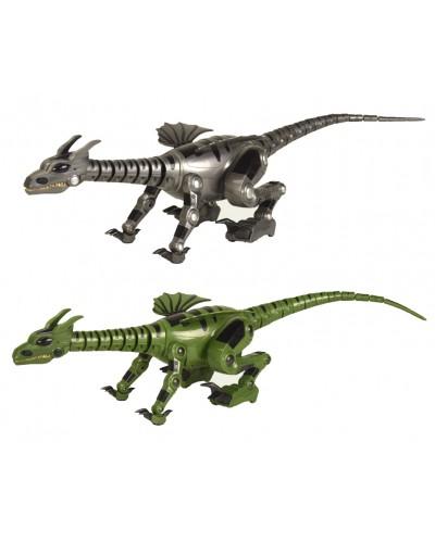 Динозавр на р/у 28109 аккум, серый/зеленый, пульт на батар., в кор. 76*24*23см