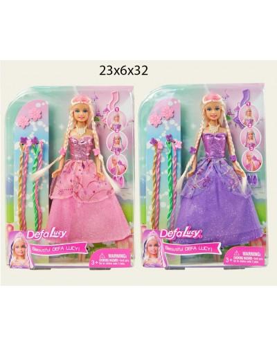 """Кукла """"Defa Lucy"""" 8182 принцесса с аксессуар., в слюде 23*6*32,5см"""