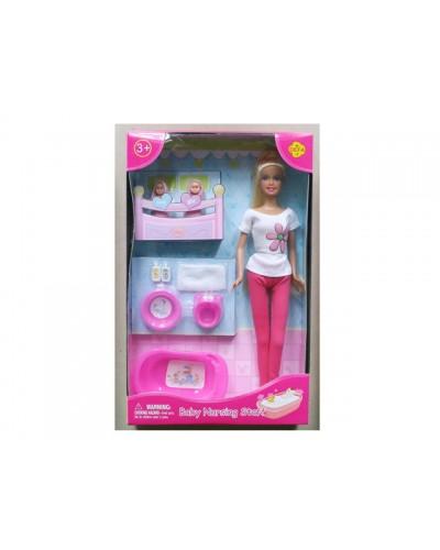 """Кукла """"Defa Lucy"""" 8213 2-ое детей, ванночка, горшок, миска, 2 цвета, в кор, 32,5*20,5*6см"""