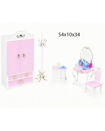 "Мебель ""Gloria"" 2318GB для спальни, шкаф, туалет.столик, стул,комод, аксес., в кор. 54*10*34см"