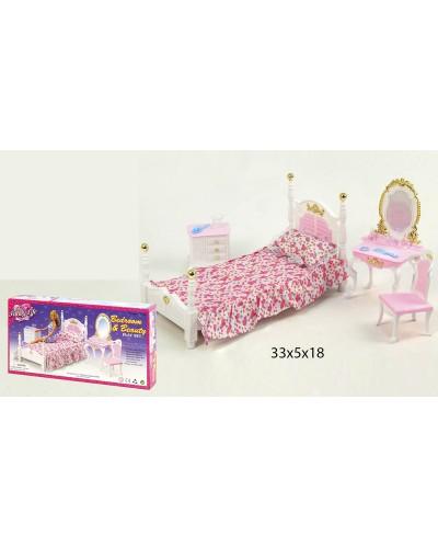 """Мебель """"Gloria"""" 2319  для спальни, кровать, туалетный столик,…в кор.33,2*16,5*5см"""