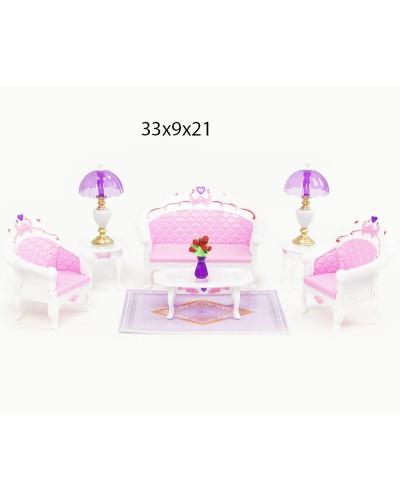 """Мебель """"Gloria"""" 2604 для гостинной, диван, 2 кресла, столик,…в кор.33*21*8,5см"""