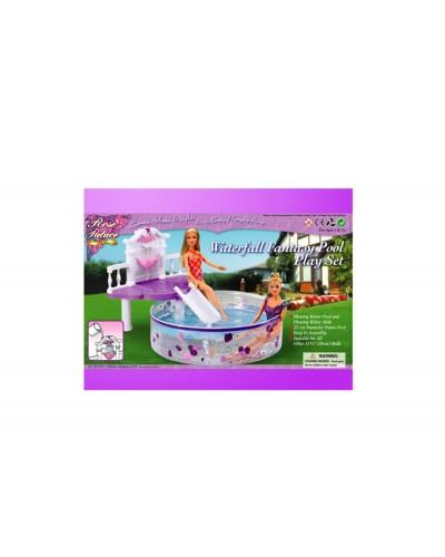 """Мебель """"Gloria"""" 2678 с бассейном для кукол 29 см, в кор. 65*31.5*61шт"""