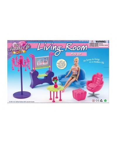"""Мебель """"Gloria"""" 2904 для гостинной, диван, кресло, столик, пуфик, телевизор в кор, 35*23*6 см"""