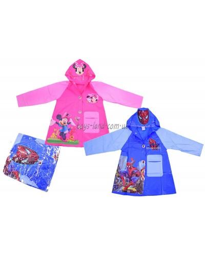 "Дождевик ""Человек-паук, Minnie Mouse"" CEL-32  2 вида, 2 размера (M,L), с капюшоном"