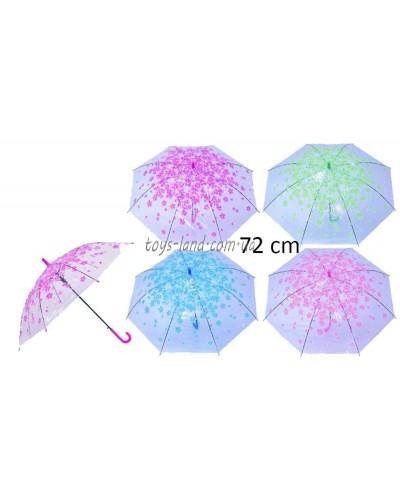 "Зонт ""Весна"" CEL-003 4 цвета, прозрачная клеенка, в пакете"