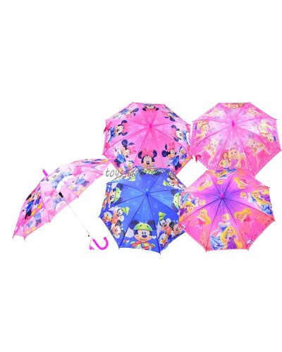 Зонт CL1721  4 вида, с рисунком, герои, в пакете 45см