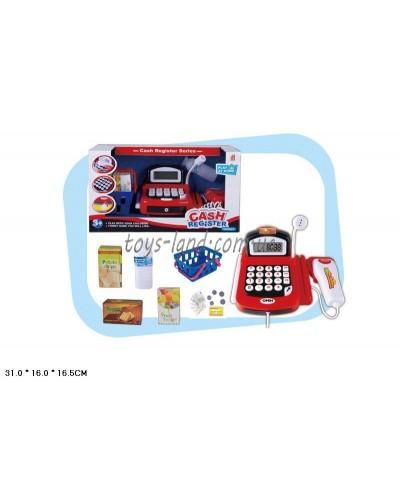 Кассовый аппарат 8088A-1 батар, сканер, микроф, калькулятор, корзина с продуктами, в кор. 31*16