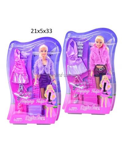 "Кукла ""Defa Lucy"" 8262 (24шт/2) 2 вида,с одеждой,аксесс, на планш.21*33см"