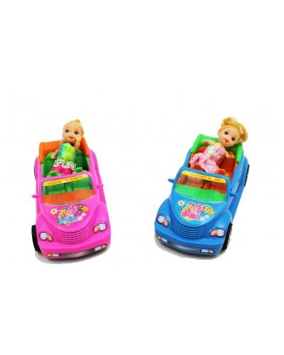 Кукла маленькая 012A с машинкой, в пак. 17,5*8,5*6,5см