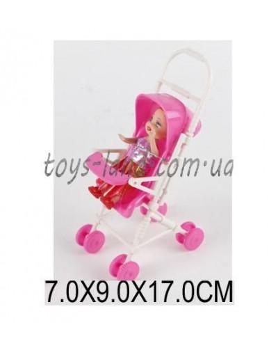 Кукла маленькая 666-21 (1342402) (384шт/4) с коляской, в пак.7*9*17 см