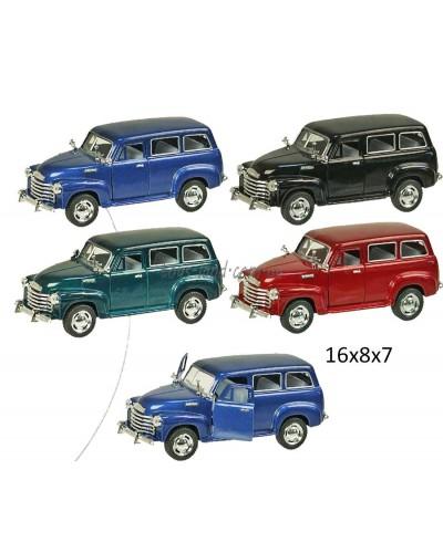 "Машина металл ""KINSMART"" KT5006W ""Chevrolet Suburban Carryall 1950"", в коробке 16*8*7см"