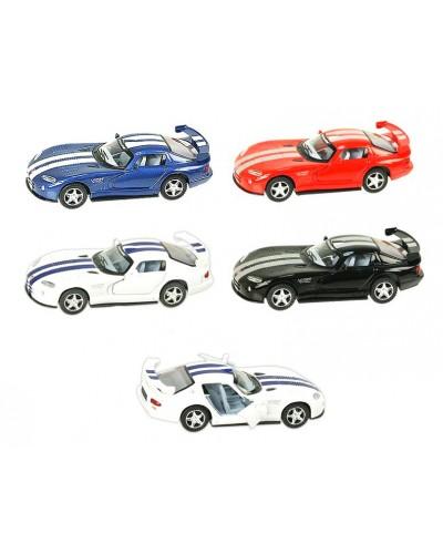 """Машина металл """"KINSMART"""" KT5039W """"Dodge Viper GTSR"""" в кор. 16*8,5*7,5см"""
