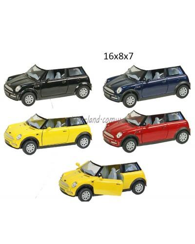 "Машина металл ""KINSMART"" KT5042W Mini Cooper  в коробке 16*8*7см"