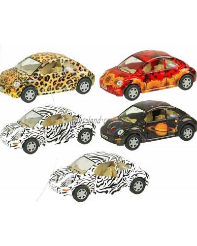 """Машина металл """"KINSMART"""" KT5062W  """"Volkswagen New Beetle"""", в коробке 16*8*7см"""