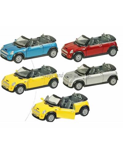 "Машина металл ""KINSMART"" KT5089W  ""Mini Cooper S Convertible"", в коробке 16*8*7см"