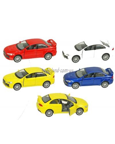 """Машина металл """"KINSMART"""" KT5329W  """"Mitsubishi Lancer Evolution X"""", в коробке 16*8*7,5см"""
