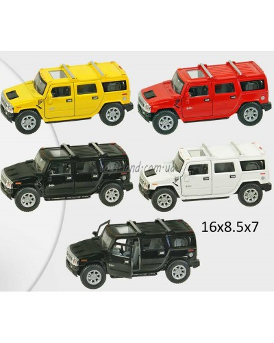 "Машина металл ""KINSMART"" KT5337W ""2008 Hummer H2 SUV"" в кор. 16*8,5*7,5см"