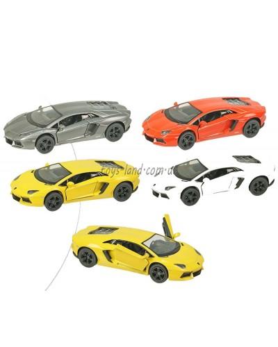 "Машина металл ""KINSMART"" KT5355W  ""Lamborghini Aventador LP700-4"", в коробке 16*8*7,5см"