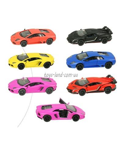 """Машина металл """"KINSMART"""" KT5370W  Matte Lamborghini, в кор.16*8,5*7,5cm"""
