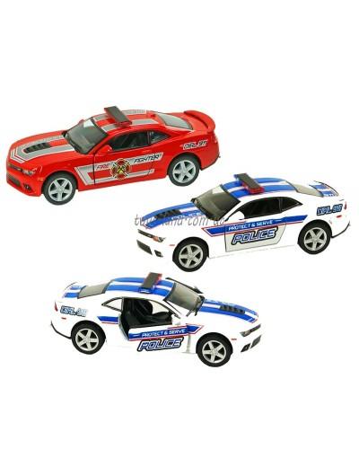 "Машина металл ""KINSMART"" KT5383WPR  Chevrolet Camaro (Police/ Fire Fighter),в кор 16*8,5*7см"