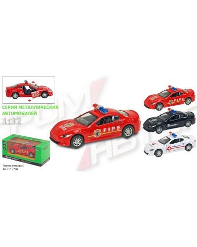 """Машина металл 7710 """"АВТОПРОМ"""" """"Maserati"""", 3 вида, откр.двери, в кор.16*7*7см"""